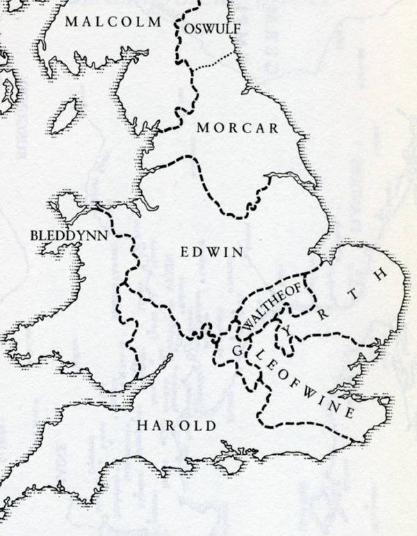 Map Of England Before 1066  London Map